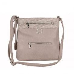 Rieker Ladies Beige Rose Messenger Shoulder Strap Bag