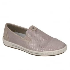 Rieker Ladies Casual Rose Leather Slip On Shoe