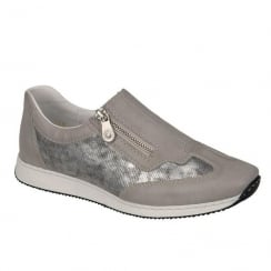 Rieker Ladies Casual Taupe Slip On Shoe