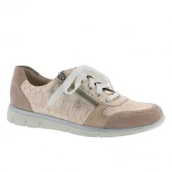 Rieker Ladies Casual Rose Sneaker Shoes