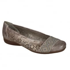 Rieker Ladies Rose Ballerina Flat Shoe