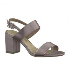 Marco Tozzi Mauve Slingback Block Heeled Sandals