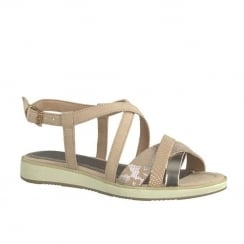 Marco Tozzi Girls Rose Open Toe Flat Sandals