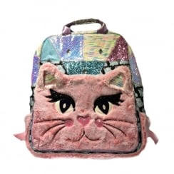Irregular Choice Candy Jem Cat Pink Backpack