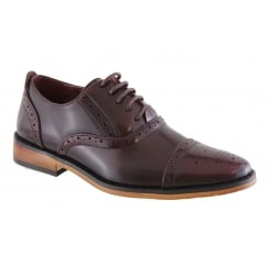 Boys Goor Burgundy Brogue