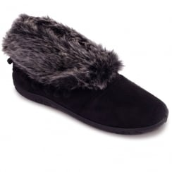 Padders Womens Eskimo Slippers - Black