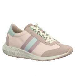 Tamaris Womens Pink Lace Up Trainers