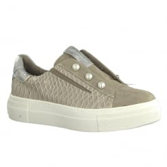 Tamaris Womens Pepper Flat Platform Pearls Trainers