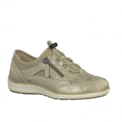 Soft Line Womens Light Gold Adjustable Toggle Laces Trainers