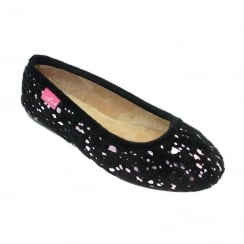 Lunar Womens KLA043 Black Shower Slip On Mule Style Slipper