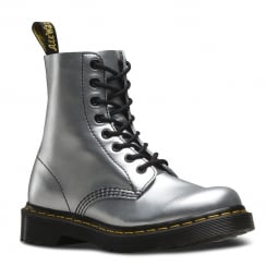 Dr Martens Womens 1460 Pascal Silver Alumix Ankle Boots