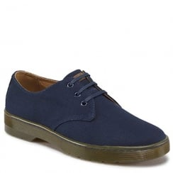 Dr Martens Delrey Navy Twill Canvas Shoes