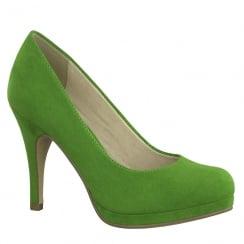 Tamaris Womens Green Suede Court Heels