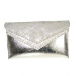 Capollini Elisse Silver Clutch Bag