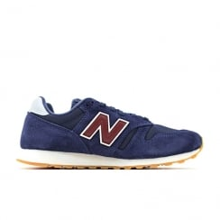 New Balance Navy Burgundy Suede ML373NRG Sneakers