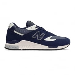 New Balance Mens Dark Navy/White Suede ML840AG Sneakers