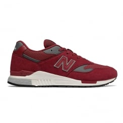 New Balance Mens Red/White/Grey Suede ML840AJ Sneakers