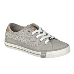 Mustang Women's Lace Up Grey Sneakers