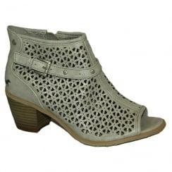 Mustang Women's Grey Peep-Toe Summer Boot