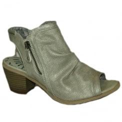 Mustang Women's Ice Low Heel Peep-Toe Summer Boot