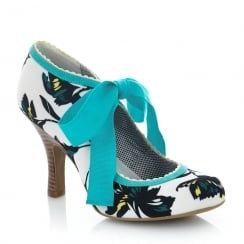 Ruby Shoo Willow Aqua High Heel Court Shoes