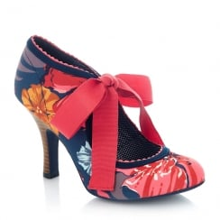 Ruby Shoo Willow Coral High Heel Court Shoes
