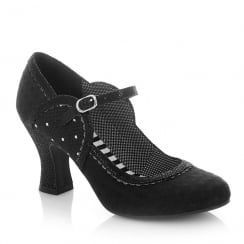 Ruby Shoo Rosalind Black Mary Jane High Heel Shoes