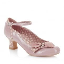 Ruby Shoo Cordelia Mink Mary Jane Low Heel Shoes
