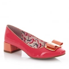 Ruby Shoo June Coral Low Heel Elegant Pumps Shoes