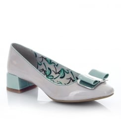 Ruby Shoo June Stone/Turquoise Low Heel Elegant Pumps Shoes