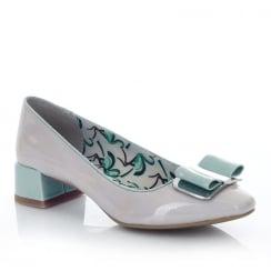 Ruby Shoo June Stone/Turquoise Low Heel Elegant Pumps Shoes