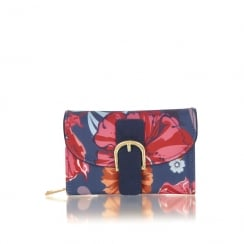 Ruby Shoo Garda Small Purse - Coral/Navy