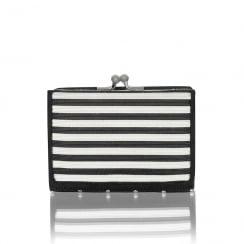 Ruby Shoo Tahoe Small Purse - Black/White Stripe