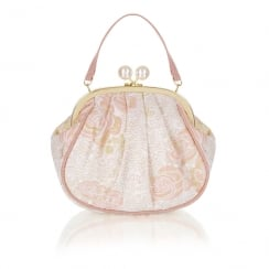 Ruby Shoo Arco Clutch Bag - Peach/Gold