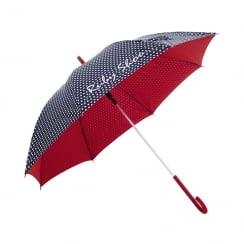 Ruby Shoo Danube Navy Red Spots Umbrella
