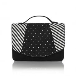 Ruby Shoo Belfast Handbag - Black Stripe