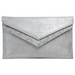 Capollini Luanne Sliver Clutch Bag