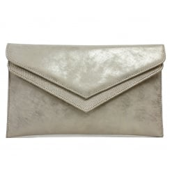 Capollini Luanne Platino Gold Clutch Bag