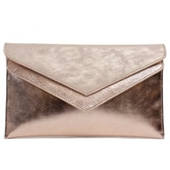Capollini Elisse Rose Gold Clutch Bag C529