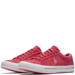 Converse Women's One Star Pinstripe Trainers - Pink