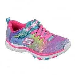 Skechers Girls Youth Lite Dash N Dazzle Velcro Trainer