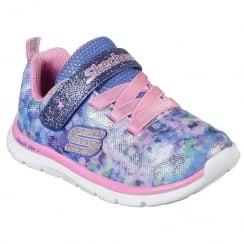 Skechers Girls Skech-Lite Blossom Cutie Blue/Pink Trainer