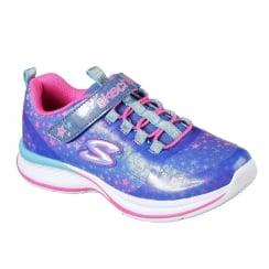 Skechers Girls' Jumpin Jams Cosmic Cutie Blue Sneaker