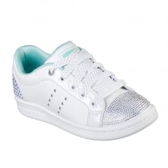 Skechers Girls Omne Smile Back White Sneaker