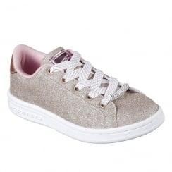 Skechers Omne Shimmer Street Lace Up Gold Sneaker