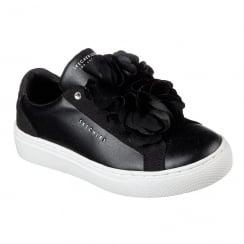 Skechers Girls Sidestreet Bloomn Slip On Black Sneaker