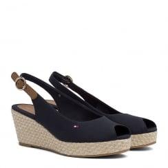 Tommy Hilfiger Iconic Elba Slingback Navy Espadrille Sandals