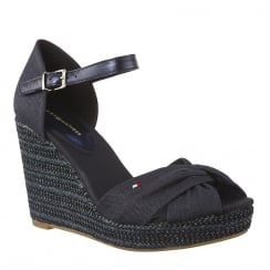 Tommy Hilfiger Elena Midnight Espadrilles Wedge Sandals
