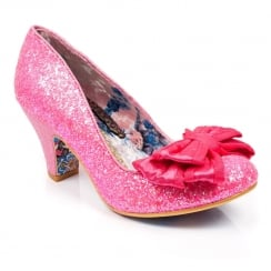 Irregular Choice Ban Joe Court Heel - Neon Pink