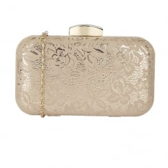 Lotus Puffin Floral Print Clutch Bag - Nude - 1701